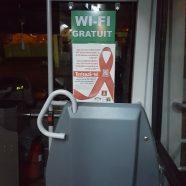 Postere testare HIV in autobuzele din Galati!